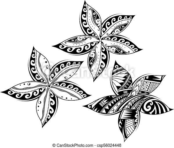 Tatuaggio Stile Fiore Tribale Plumeria Stili Tatuaggio Fiore