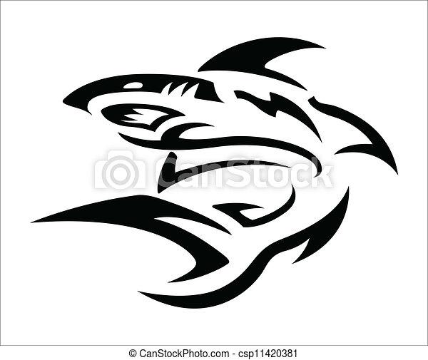 Tatuaggio tribale squalo disegno tatuaggio squalo for Disegno squalo