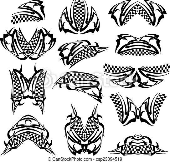 Bandera de tatuajes - csp23094519