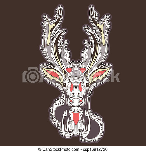 Tatuaje Cabeza Venado Diseño