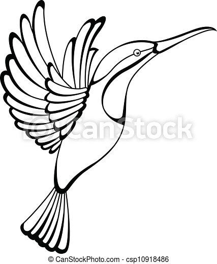 tatuaje, colibrí - csp10918486