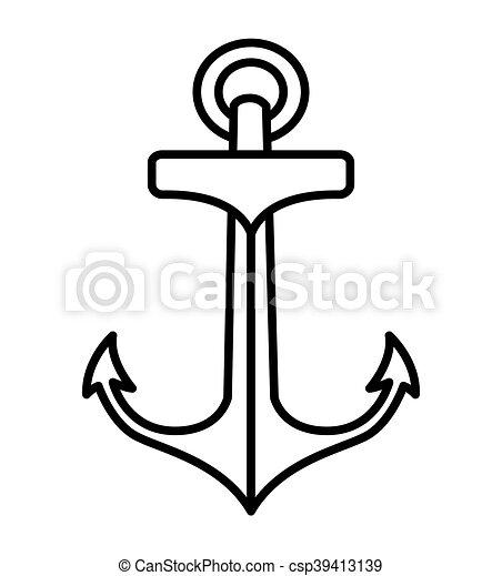 Tatuaje estilo aislado dibujo ancla icono Tatuaje estilo