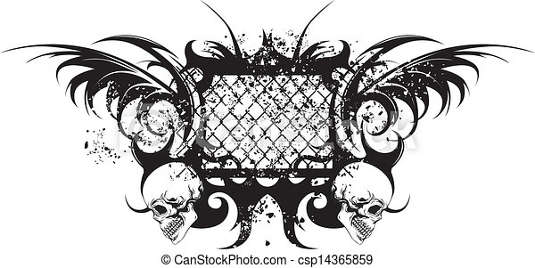 Tatuaje tribal con cráneos - csp14365859