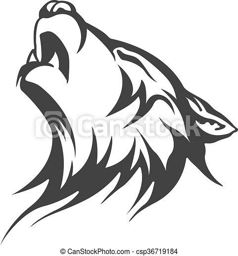 Tatuaje Tribal Lobo Diseños