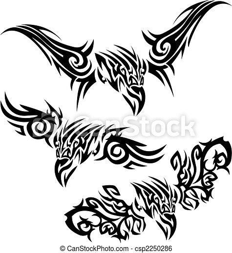 Tatuajes aves de presa - csp2250286