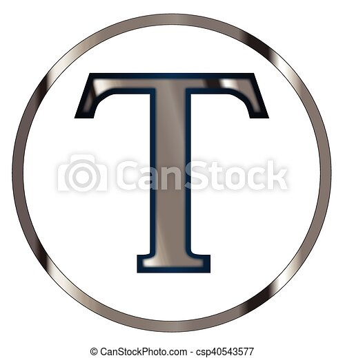 Tau Greek Letter Tau A Letter From The Greek Alphabet Isolated Over