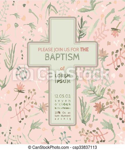 Taufe Karte Einladung.Taufe Karte Einladung