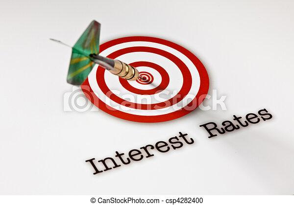 taux, cible, intérêt - csp4282400