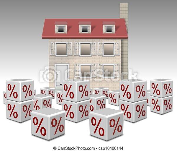 taux, hypothèque, intérêt - csp10400144