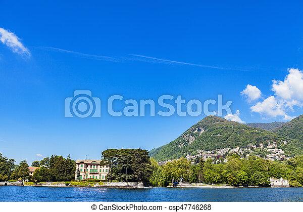 Tavernola on Como lake, Italy - csp47746268