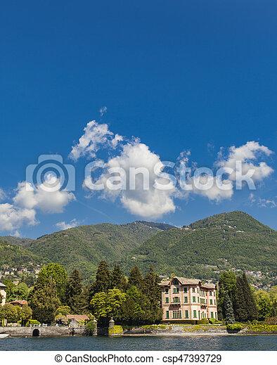 Tavernola on Como lake, Italy - csp47393729