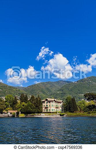 Tavernola on Como lake, Italy - csp47569336