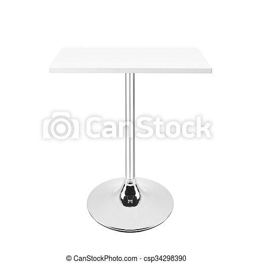 tavola, bianco, isolato - csp34298390