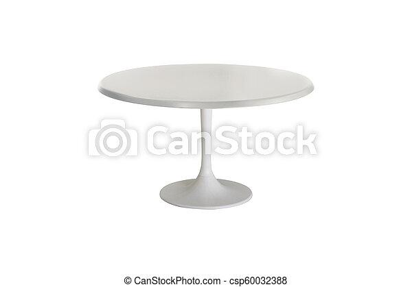 tavola, bianco, isolato, fondo - csp60032388