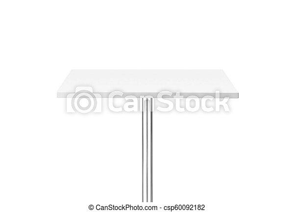 tavola, bianco, isolato, fondo - csp60092182