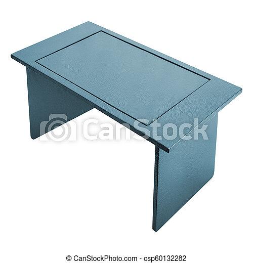 tavola, bianco, metallo, fondo - csp60132282