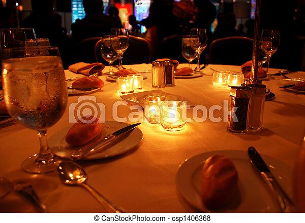 tavola, cena, gala - csp1406368