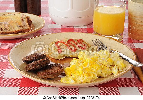 tavola, colazione, picnic - csp10703174