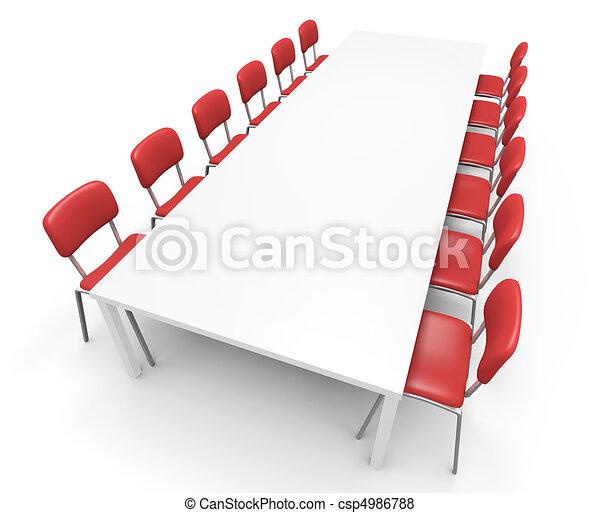 tavola, conferenza - csp4986788