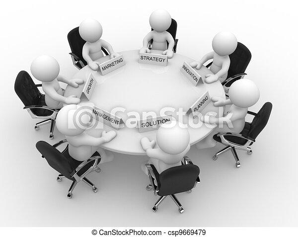 tavola, conferenza - csp9669479