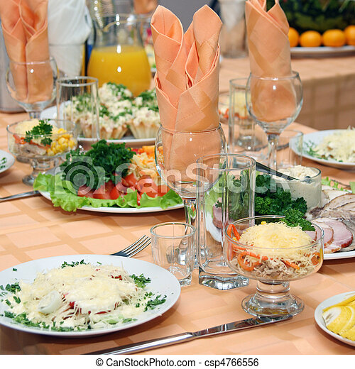 tavola, coperto, ristorante - csp4766556