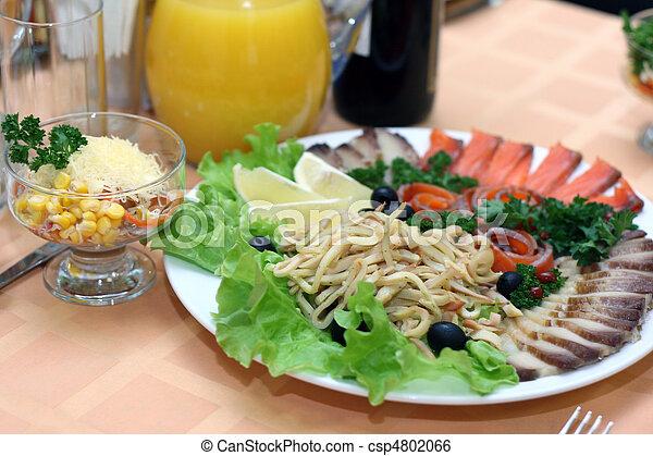 tavola, coperto, ristorante - csp4802066