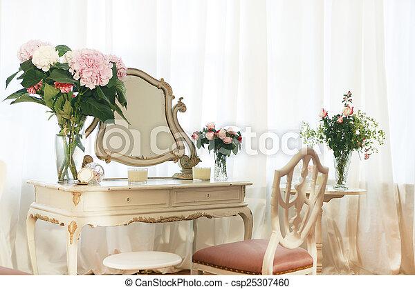 tavola, fiori, abbigliamento - csp25307460
