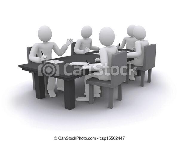 tavola, lavorativo, affari persone, seduta - csp15502447