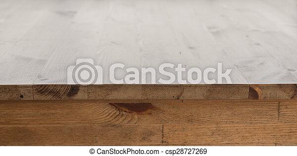 tavola, legno, ristorante - csp28727269