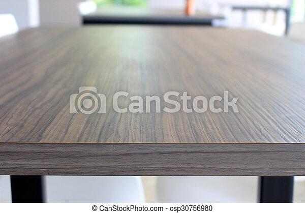 tavola, legno, ristorante - csp30756980