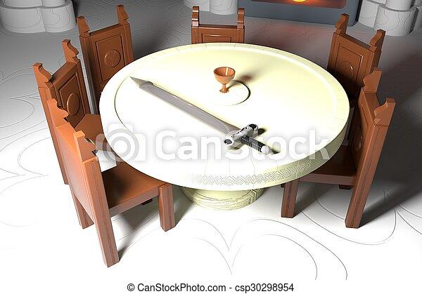 tavola, rotondo - csp30298954