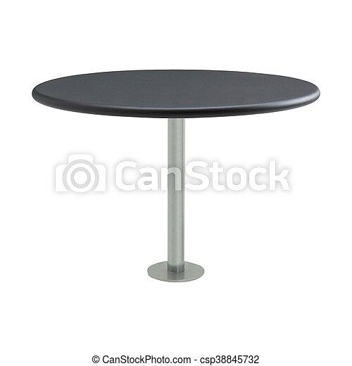 tavola, rotondo, isolato - csp38845732