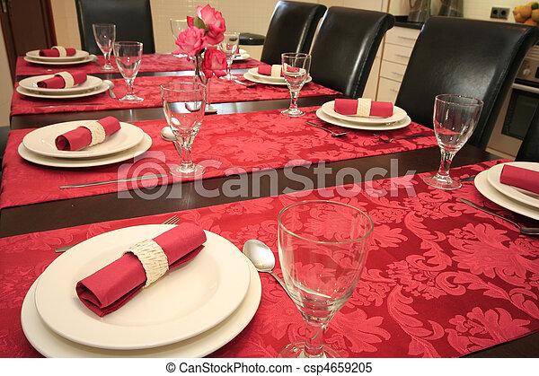 tavola, set, cena. - csp4659205