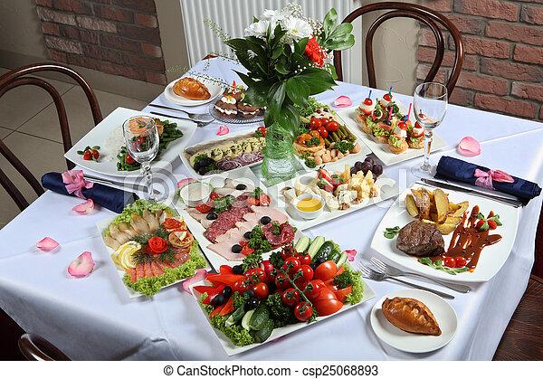 tavola, set, piatti, varietà - csp25068893