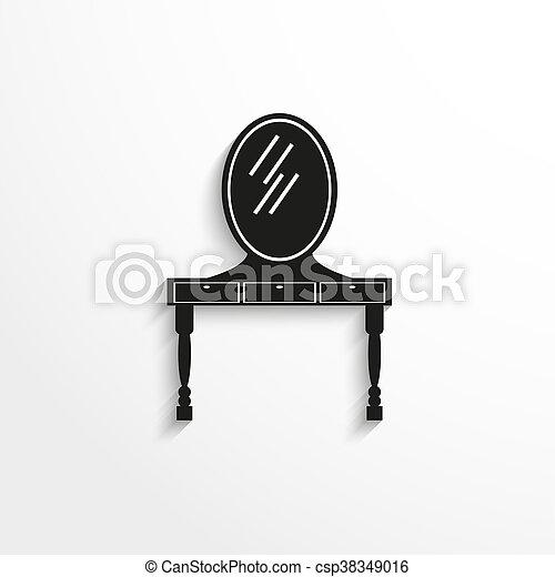 tavola, specchio., abbigliamento, furniture., pezzi - csp38349016
