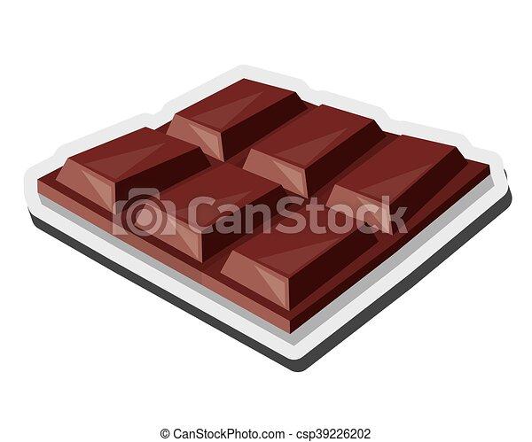 Tavoletta Di Cioccolato Disegno.Tavoletta Di Cioccolato Caramella Icona Appartamento Sbarra