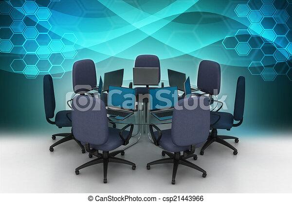 tavolo conferenza - csp21443966
