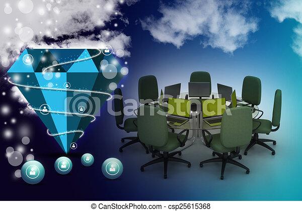 tavolo conferenza - csp25615368