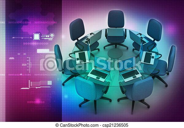 tavolo conferenza - csp21236505