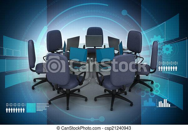 tavolo conferenza - csp21240943