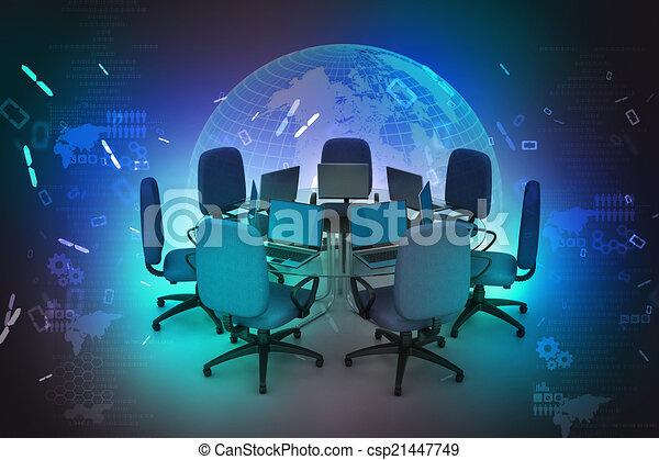 tavolo conferenza - csp21447749