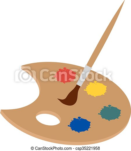 Disegno Tavolozza Dei Colori.Tavolozza Dei Colori Illustrazione