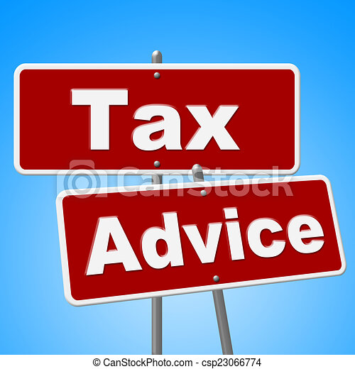 Tax Advice Signs Represents Help Faq And Instructions - csp23066774
