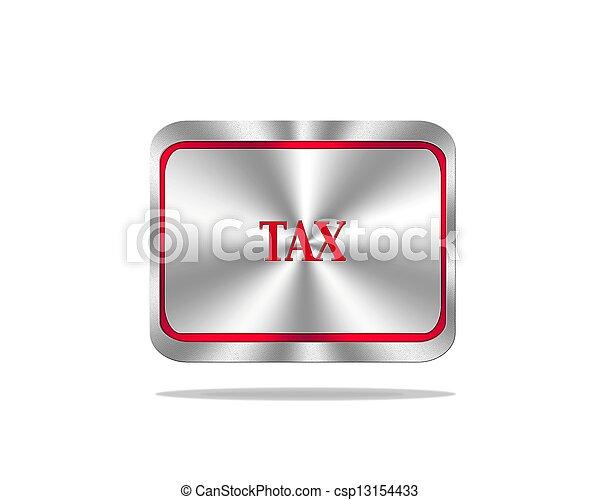 Tax button. - csp13154433