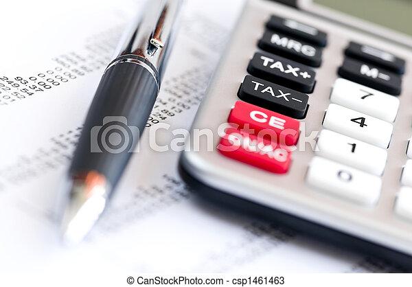 Tax calculator and pen - csp1461463