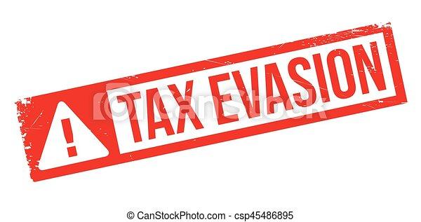 Tax Evasion rubber stamp - csp45486895