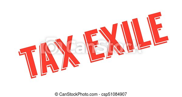 Tax Exile rubber stamp - csp51084907