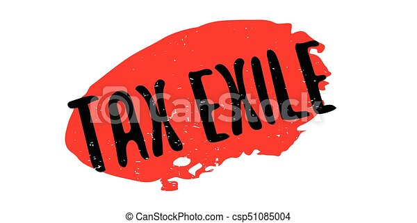 Tax Exile rubber stamp - csp51085004