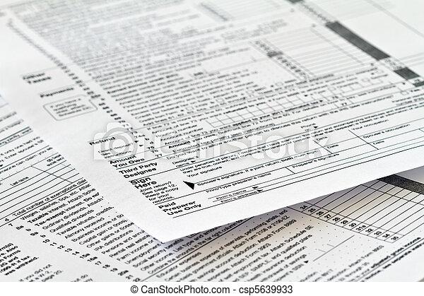 tax form - csp5639933