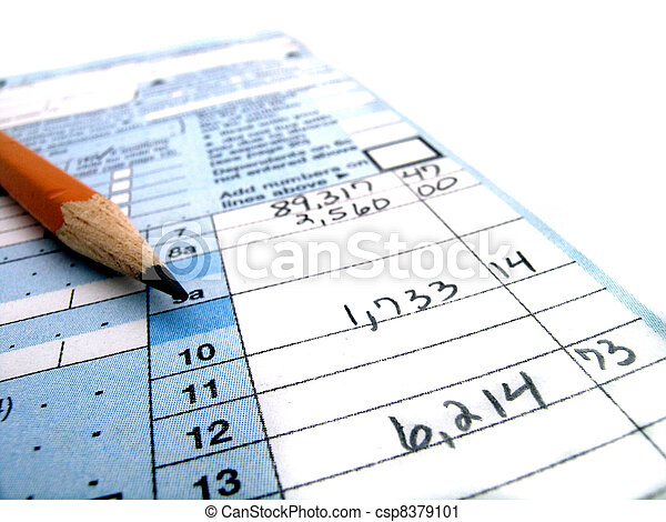Tax Forms - csp8379101